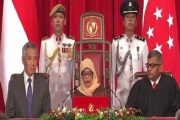 أول امرأة مسلمة تتولى الرئاسة في سنغافورة.... حليمة يعقوب تؤدي اليمين الدستورية