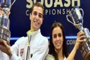 مصري وزوجته يفوزان ببطولة أميركا المفتوحة للاسكواش