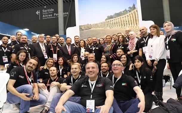 ملخص نشاطات الجناح الأردني في المؤتمر العالمي للهواتف المتنقلة في برشلونة- صور