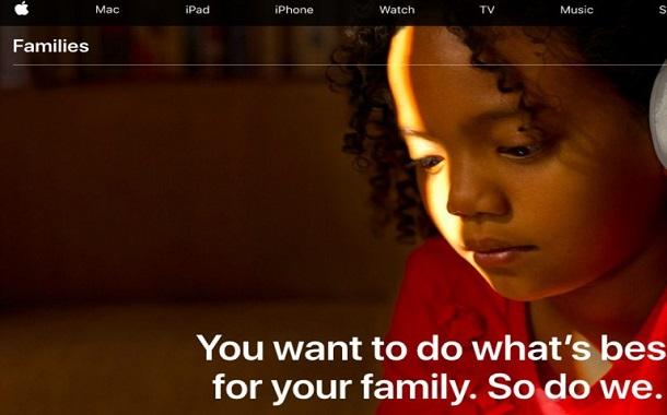 أبل تطلق صفحة لمساعدة الأهل على التحكم باستخدام أطفالهم لمنتجاتها