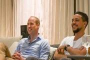 صور للأمير وليام وولي عهد الأردن يشاهدان مباراة إنجلترا