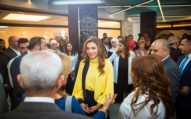 الملكة رانيا العبدالله تُطلق منصة إدراك للتعلُّم المدرسي