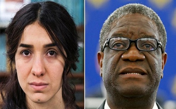 نوبل للسلام تُمنح لمكافحي الاغتصاب نادية مراد ودينيس ماكويغي