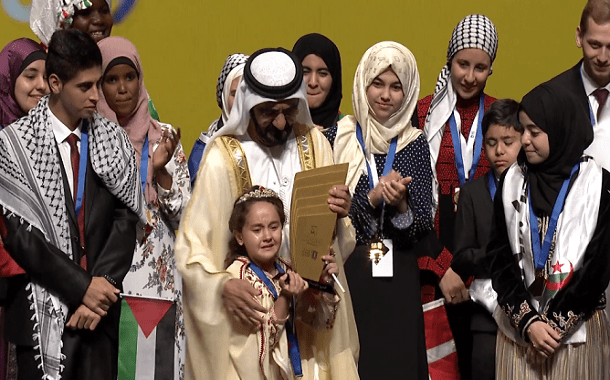 طفلة مغربية ........ تحصد لقب بطلة تحدي القراءة العربي