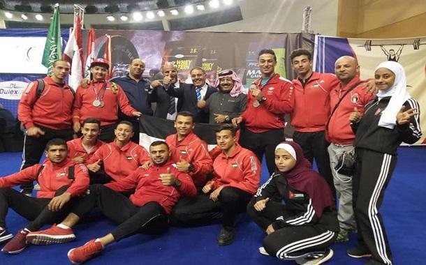 ١٣ ميدالية للأردن في البطولة العربية لرفع الأثقال