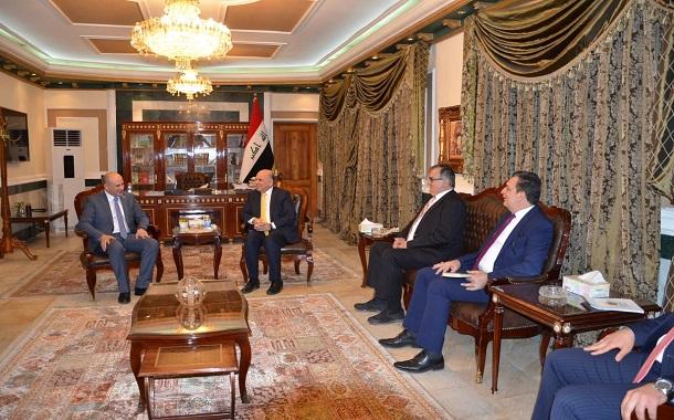 الغرايبة يبحث مع نائب رئيس الوزراء العراقي مجالات التعاون الاقتصادي