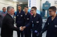 الملك يزور معهد ماركا للتدريب المهني .... ويجتمع مع مجلس هيئة تنمية وتطوير المهارات المهنية والتقنية
