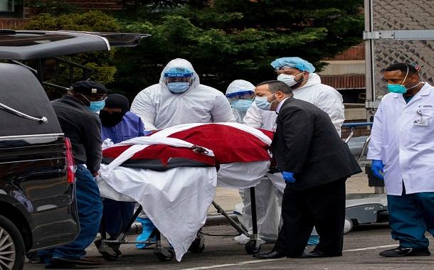 جونز هوبكنز : 1255 وفاة بفيروس كورونا خلال 24 ساعة بالولايات المتحدة