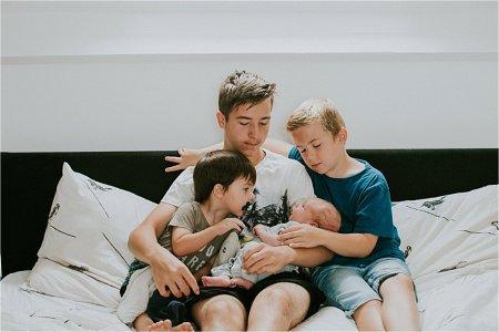 Gezin met vier kinderen