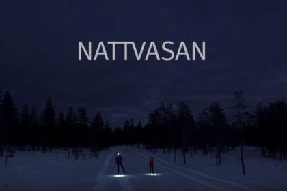 Skärmavbild från Vasaloppet reklamfilm för Nattvasan