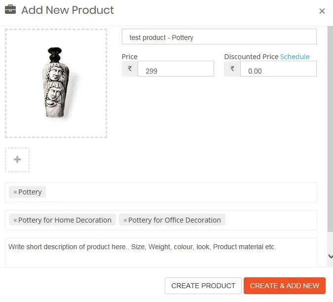 Add Product Info