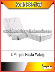4 parçalı ortopedik hasta yatağı