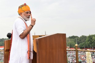 The Prime Minister, Shri Narendra Modi addressing the Nation on the occasion of 73rd Independence Day from the ramparts of Red Fort, in Delhi on August 15, 2019