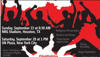 howdy modi Protests in Houston and NY