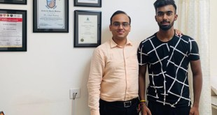 Cricketer Aniket after Surgery with Dr Ankit