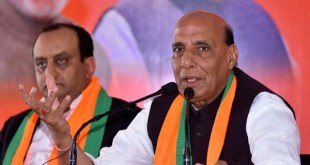 Jaipur: Union Home Minister Rajnath Singh addresses a press conference in Jaipur on Dec 2, 2018. (Photo: IANS)
