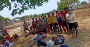 30 migrant laborers from Jharkhand stranded at Telangana and Chhattisgarh border for three days