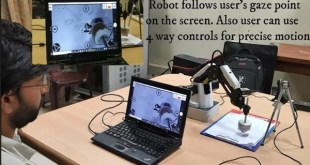 Scientists created robotic arm to be controlled by eyes