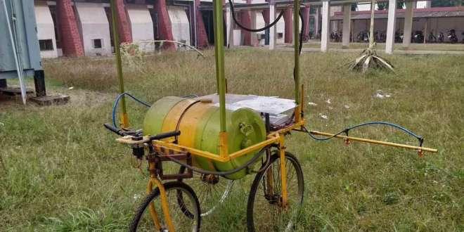 New solar device for spraying pesticides