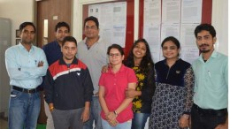 Dr. Amit Kumar with his team at his lab in IIT-Indore