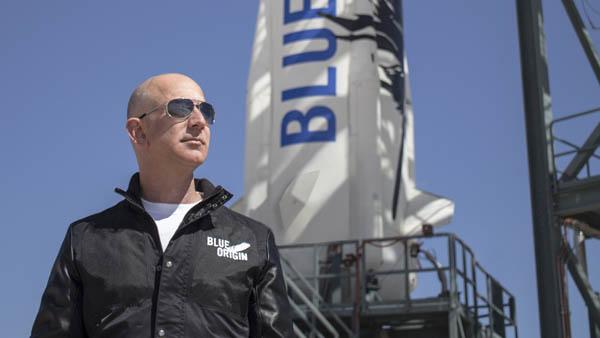 Jeff Bezos, founder of Blue Origin