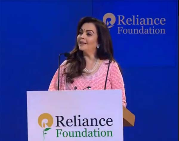 •Nita Ambani dedicates Dhirubhai Ambani Square at the Jio World Centre to Mumbai, with a premiere of Musical Fountain show for the city's underprivileged children  •Two more special Musical Fountain shows for nearly 7,000 protectors of the city on 12 March  2000 underprivileged children were invited at the Dhirubhai Ambani Square