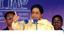 Jaipur: BSP chief Mayawati addresses a public meeting in Jaipur on Nov 26, 2018. (Photo: Ravi Shankar Vyas/IANS)