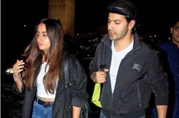 Varun Dhawan with Natasha