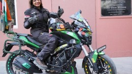 Dr Namrata Singh, a physiotherapist and avid biker, who is undertaking an all India Bike ride to sensitise women about cancers