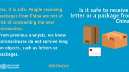 Is it safe to receive a letter or a package from China