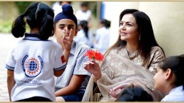 DAIS Founder & Chairperson Smt Nita M Ambani interacting with DAIS students