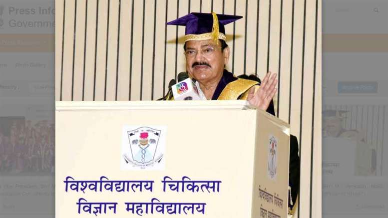 Vice President, Shri M. Venkaiah Naidu addressing the Convocation Ceremony of the University College of Medical Sciences (UCMS), in New Delhi on September 25, 2021