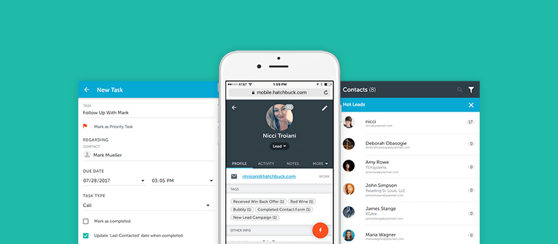 Manage Contact on the Fly with Hatchbuck Mobile