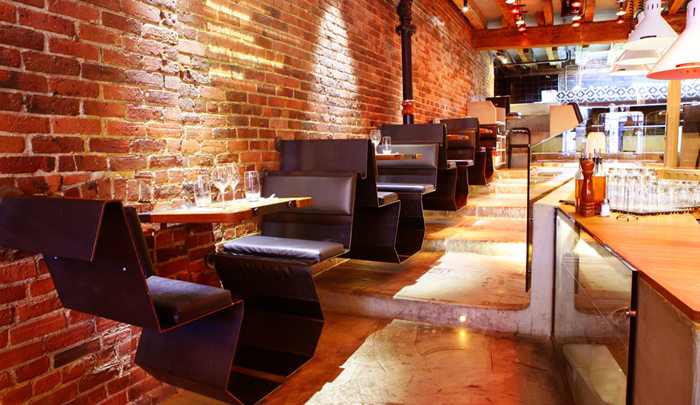 Elements of Design  Texture and Pattern Design firm Cabinet Braun Bra    n created a warm and intimate restaurant  environment by applying texture using a brick wall finish