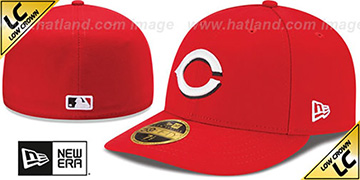 Reds 2017 LOW-CROWN ONFIELD HOME Fitted Hat by New Era