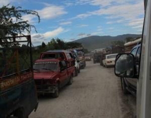 Port au Prince Traffic jam
