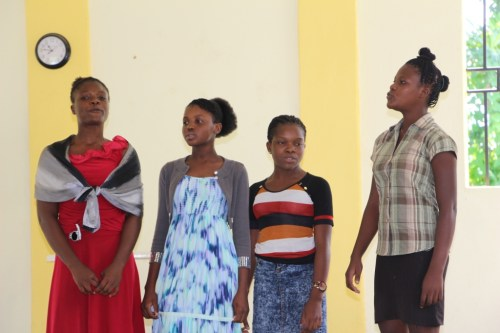 The school singers. Leica (second from left) sang a beautiful solo. What talent!!