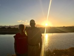 Two wonderful people on an early morning walk
