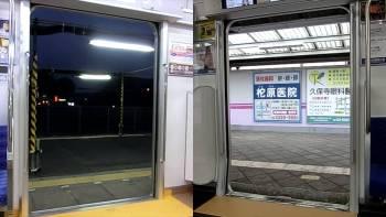 東武60000系と西武30000系のドア開閉比較動画
