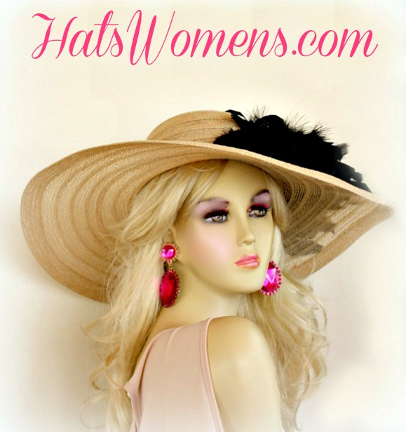 d55bcdb8d Hats For Weddings, Ladies Derby Hats, Church Hats, Wide Brim Dress Hats ·  Women's Formal Camel Beige ...