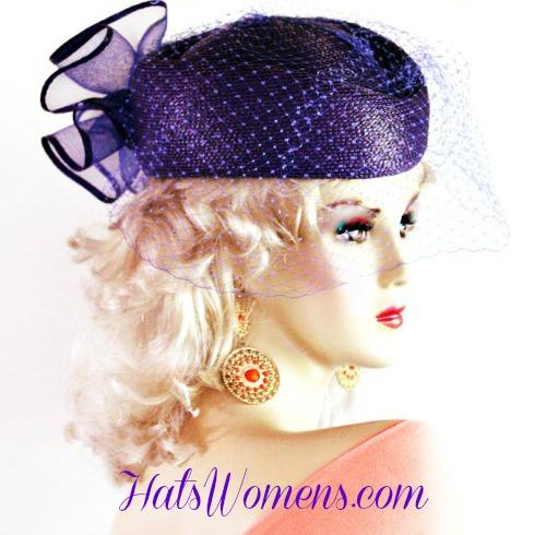 3d42f5092 Purple Pillboxes For Church, Purple Dress Hats, Ladies Purple Fashion Hats,  Purple Hats · Beige Designer Hat ...