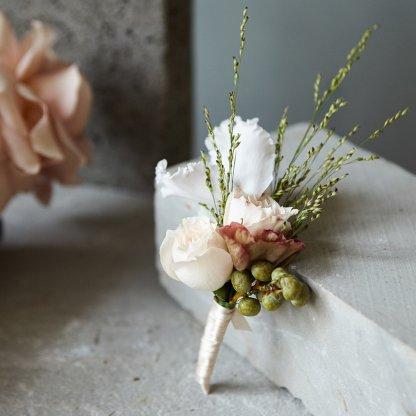 Architectural Buttonhole   That Flower Shop   Weddings & Events