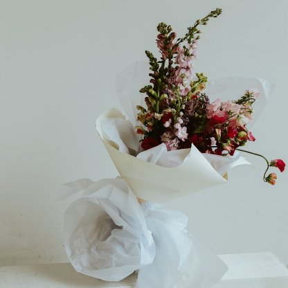 Seasonal Bouquet in Blush and Pink | That Flower Shop
