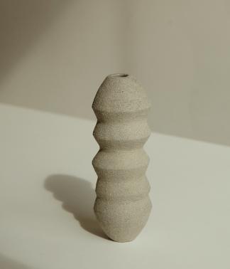 HAAR EAST Grey Slim Wave Vessel | Sculptural Piece
