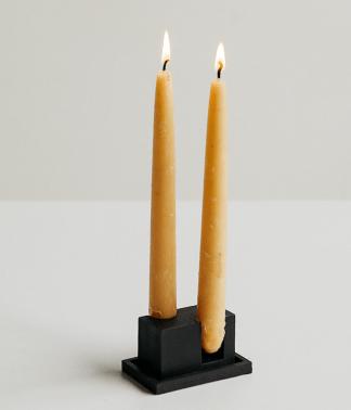 Rekha Maker Black Candlestick Holder