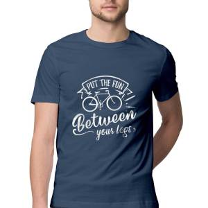 Cyclist Put the fun between your legs- Navy Blue - HattsOff