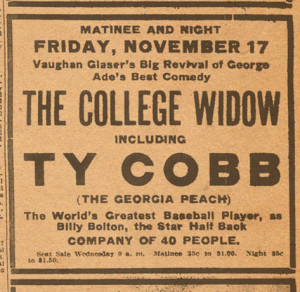 The College Widow excerpt from the Savannah News