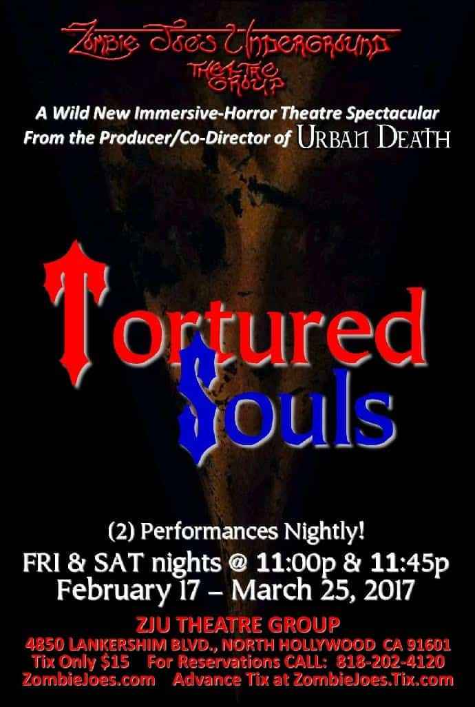tortured souls zombie joe's underground shock theater