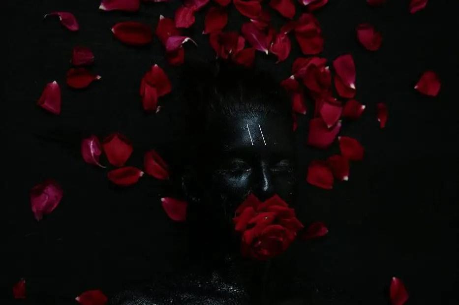 Heretic Devil The Parallel San Francisco extreme haunt black face red rose roses petals mouth DVIL Safe Word