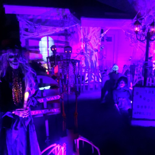 Coffinwood Cemetery haunted house yard display